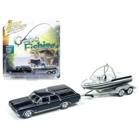 1964 Oldsmobile Vista Cruiser - 1964 Oldsmobile Vista Cruiser Midnight Mist Blue w/ Boat & Trailer