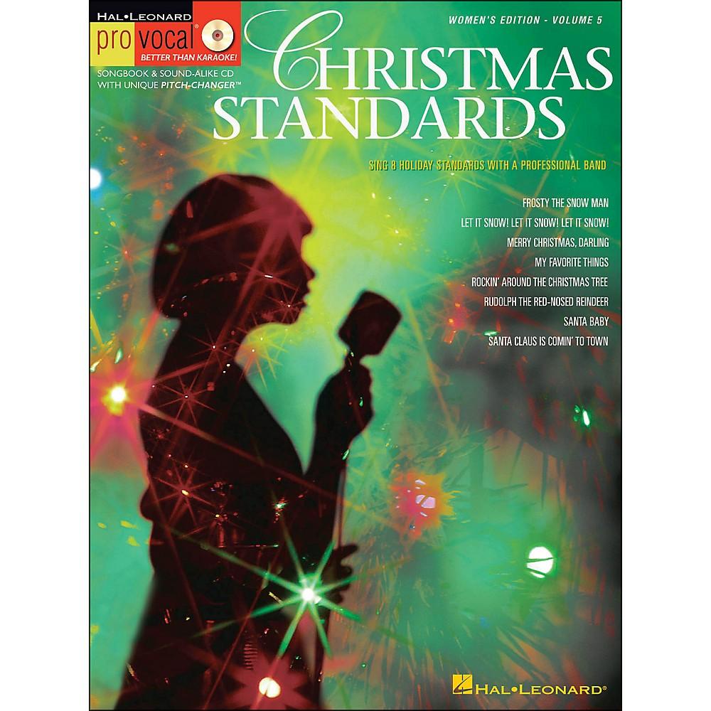 Hal Leonard Christmas Standards for Female Singers Pro Vocal Songbook Volume 5 Book/CD