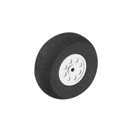 45mm Diameter 19mm Deep Gray Plastic Hub Black Foam Wheel Toy Car Wheel