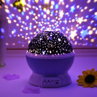 Rotating LED Starry Sky Moon Projector Night Lamp Star Light Cosmos Kids Gift