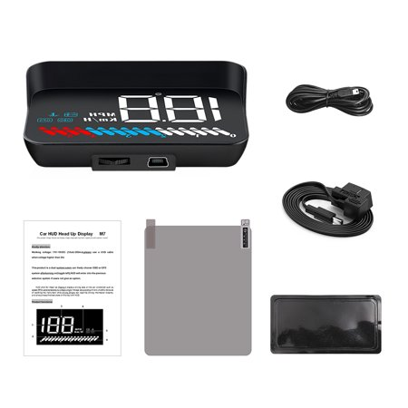 Car HUD Head-Up Display Overspeed Alarm Warning with OBD II Interface Digital Projection