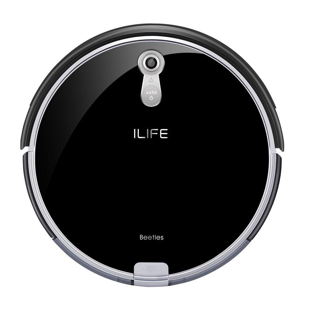 ILIFE New Arrival A8 Robotic Vacuum Cleaner Camera Navigation i-Voice, One size, Brilliant Black