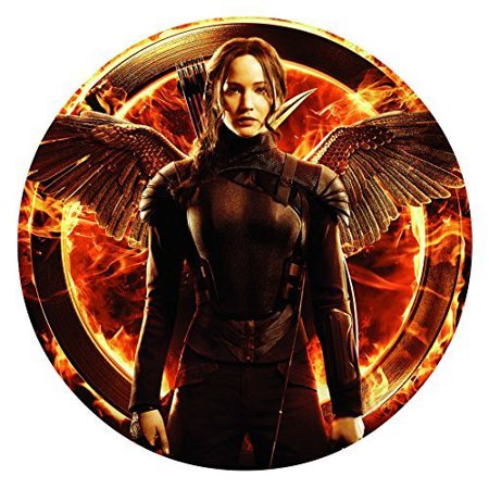 The Hunger Games Mockingjay Katniss Edible Image Photo Sugar Frosting Icing Cake Topper Sheet Birthday Party - 8 ROUND - 75362 by Sweet Cakes