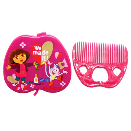 Dora the Explorer Dora and Boots Apple Shaped Kids Mirror