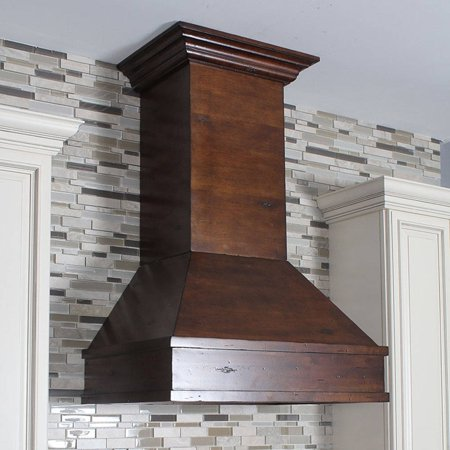 Zline Kitchen And Bath 36 In Wooden Wall Mount Range Hood Walnut