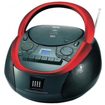 QFX CD/Cassette/MP3 Stereo Player AM/FM Radio