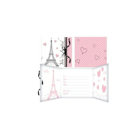 Access Party in Paris Invitation Card, 8 Ct