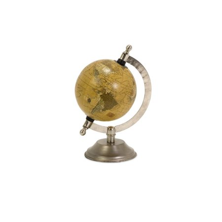 Home Decor Improvements 73025 Globe terrestre avec base au fini nickel - image 1 de 1