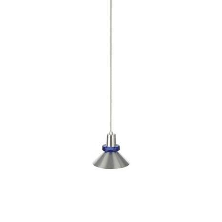 Tech Lighting 700kwksc Kable Lite Hanging Wok Metal Shade Pendant With Cobalt Gl