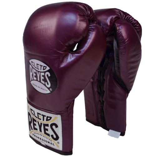 Cleto Reyes Official Lace Up Competition Boxing Gloves - 10 oz. - Purple
