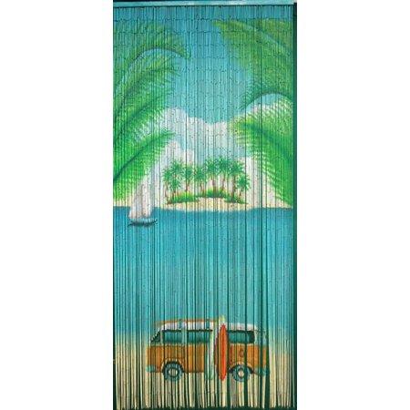 Bamboo54 Classic Beach Scene - 125 Strand Bamboo Curtain ()