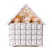 Wooden Alpine Village LED Christmas Advent Calendar with Drawers