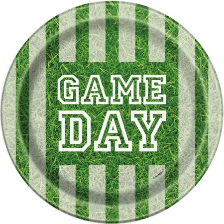 Game Day Football Paper Plates, 7 in, 8ct](Football Party)