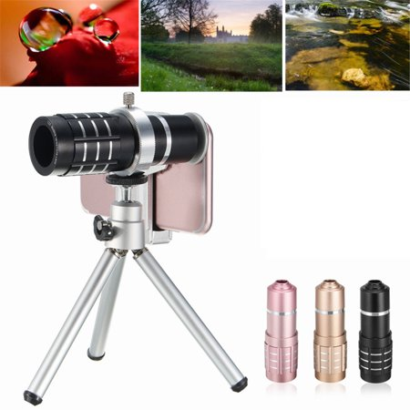12x Zoom Mobile Phone Cell Phone Telescope Camera Telephoto Lens Kit For Cellphone