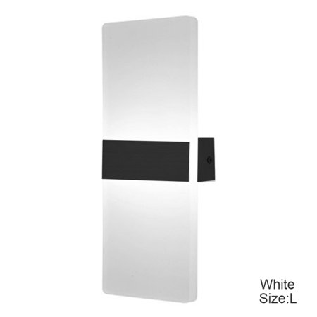 Acrylic 6w LED Wall Sconces Aluminum Lights Fixture On/Off Decorative Lamps Night Light for Pathway, Staircase, Bedroom, Balcony,Drive Way,Warm white (