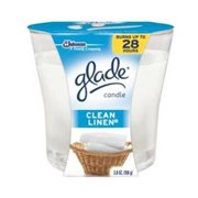 Johnson S C Inc 75380 Glade Air Freshener Candle-CLEAN LINEN GLADE CANDLE