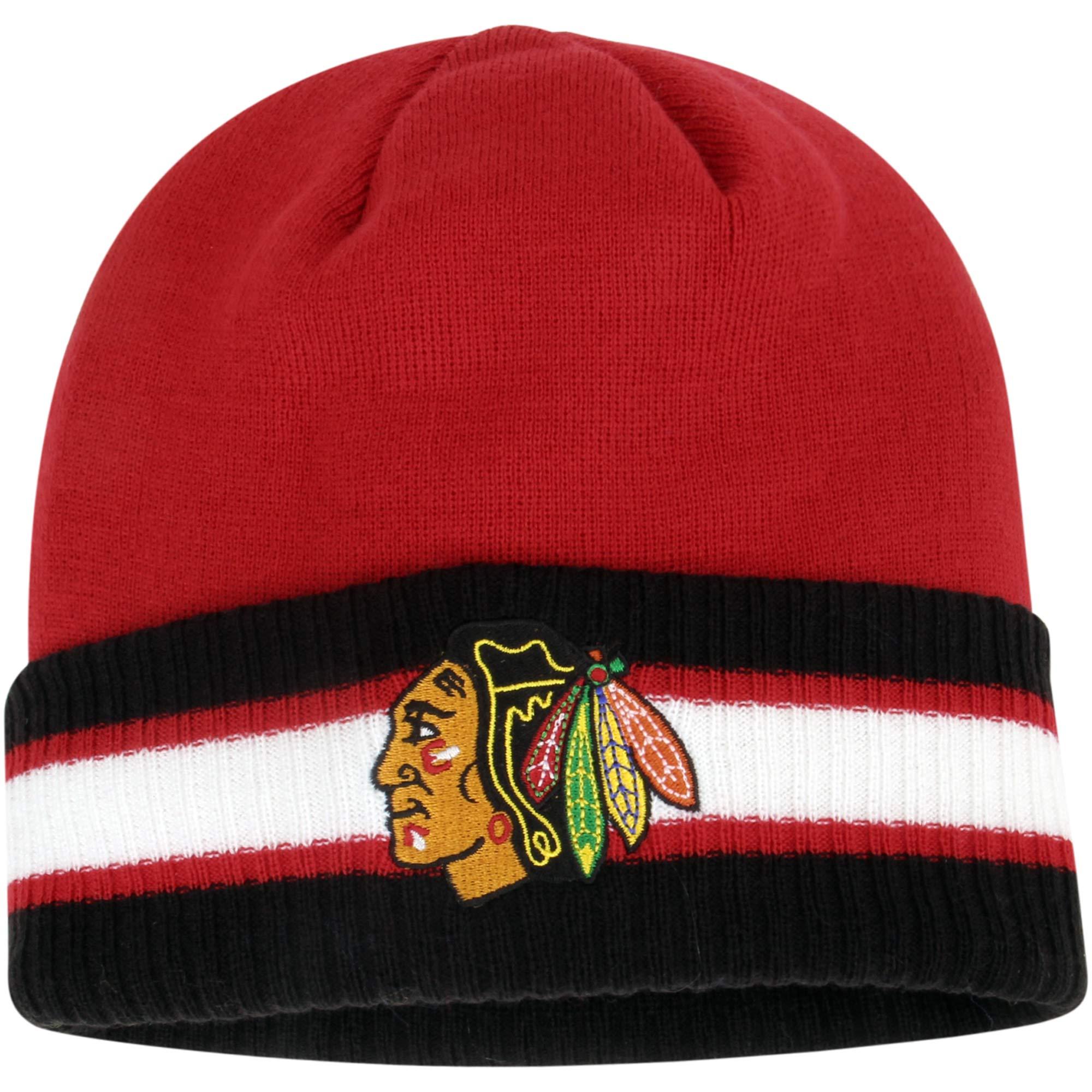 Chicago Blackhawks Reebok Captain's Cuffed Knit Hat - Red/Black - OSFA