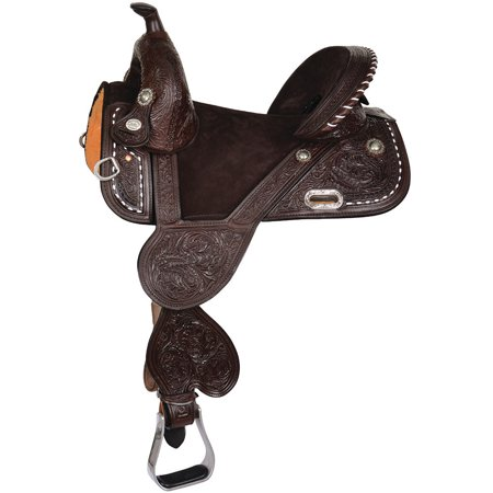 Circle Y Tammy Fischer Buckstitch Treeless Barrel Saddle  14.5