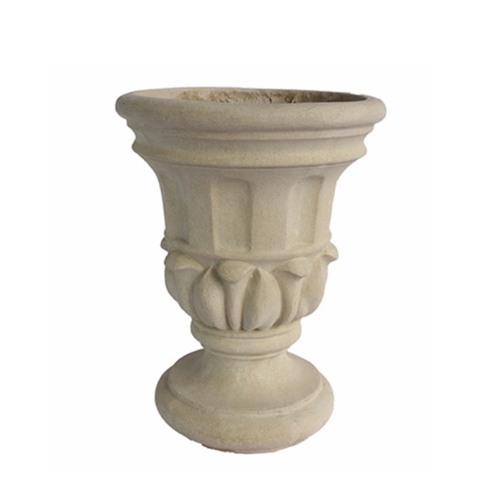 Anderson Teak Magnolia Urn Planter by Outdoor Urns