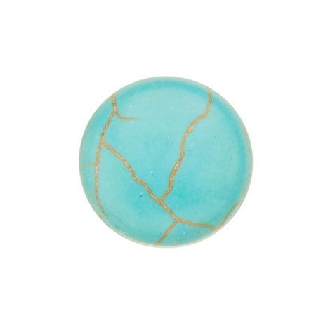 20pcs 15mm Round Imitation Turquoise Cabochon