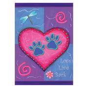 Toland Home Garden Love Live Bark Flag