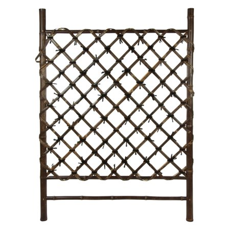 Oriental Furniture Dark Stained Japanese Style Garden Trellis ()