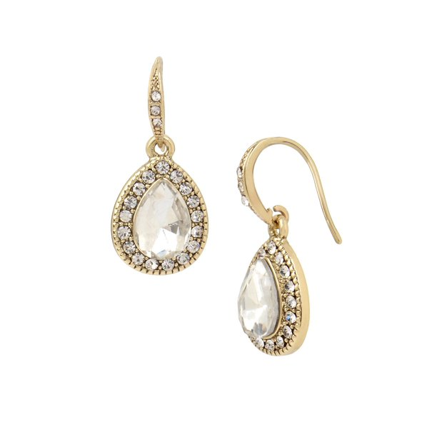 Basic Ears Crystal Drop Earrings