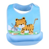 Lavaport Kids Infant Toddler Waterproof Lunch Cartoon Animal Print Bibs