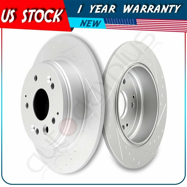 Rear And Slotted Brake Discs Rotors Fits 2004