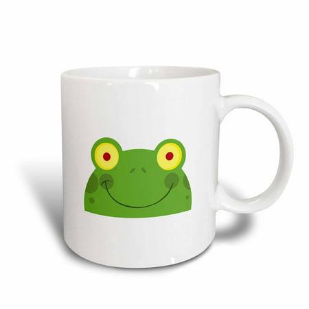 3dRose Silly Froggy Face Cartoon, Ceramic Mug, 11-ounce