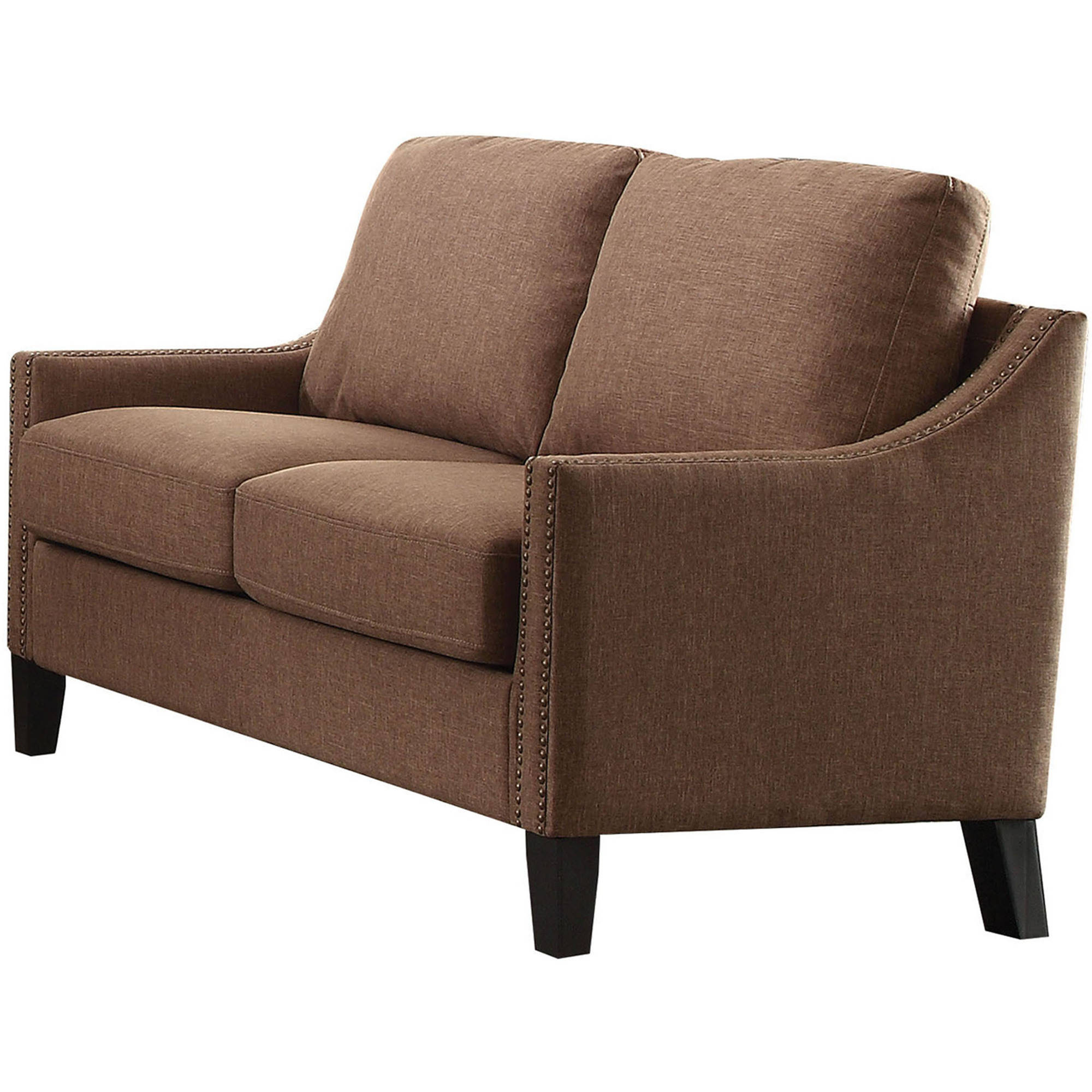 ACME Zapata Nail-head Loveseat in Multiple Colored Linen