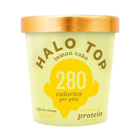 Halo Top, Lemon Cake Ice Cream, Pint (8 Count) - Homemade Lemon Ice Cream