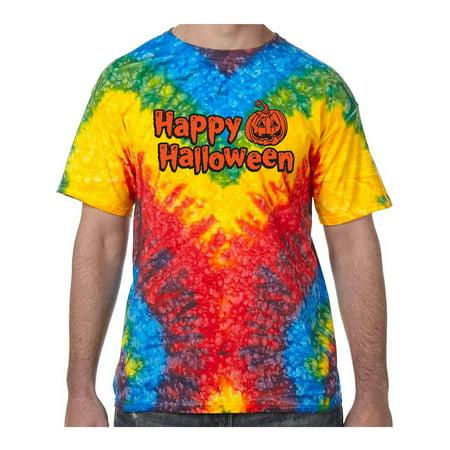 Happy Halloween with Pumpkin Tie Dye Tee Shirt - Woodstock, Large](Woodstock Halloween)