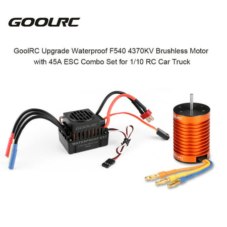 GoolRC Upgrade Waterproof F540 4370KV Brushless Motor with 45A ESC Combo Set for 1/10 RC Car - Esc Rc Cars