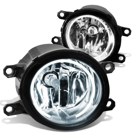 For 2007 to 2014 toyota Camry / Corolla / Tacoma / Lexus RX350 IS250 Halo Ring Fog Light+CCFL Power Inverter Clear Lens 08 09 10 11 12 13 Left+Right 09 Toyota Corolla Single