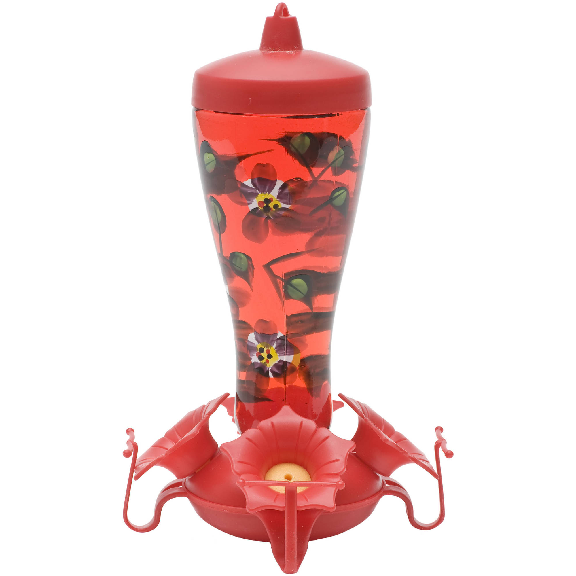 Perky-Pet 10 oz Hand Painted Glass Hummingbird Feeder