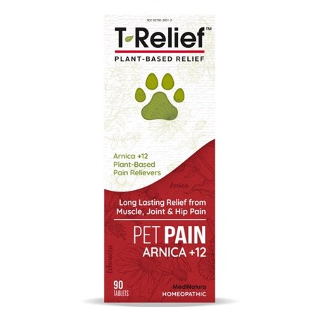 T-Relief Pet Pain Arnica +12 MediNatura 90 Tabs Homeopathic Remedies Pets