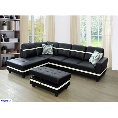 Magnificent Aycp Furniture Sectional Sofa Set With Storage Ottoman Left Pabps2019 Chair Design Images Pabps2019Com