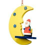 ULBR 10-0860 Christian Ulbricht Ornament - Santa in Moon