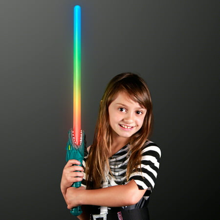 FlashingBlinkyLights LED Dragon Light Up Saber Sword with