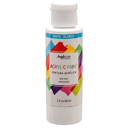 New 381328  Angels Craft Acrylic Paint White 1 Ct (12-Pack) School Supplies Cheap Wholesale Discount Bulk Stationery School Supplies Air Freshener
