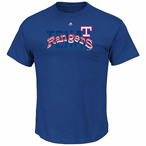 MLB Men's Last Rally Cooperstown T-shirt (L, Texas Rangers)