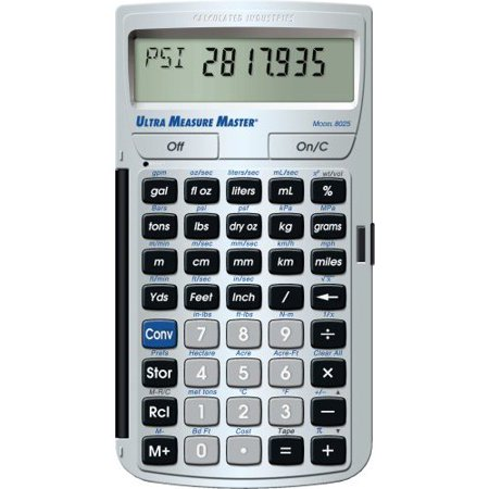 Calculated Industries 8025 Ultra Measure Master Measurement Conversion Calculator  Silver