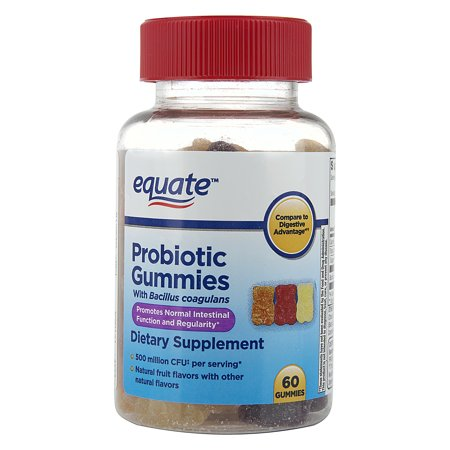 Equate Probiotic Non-Dairy Gummies, Daily Dietary Supplement
