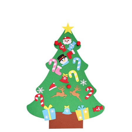 DIY Three-dimensional Felt Cloth Christmas Tree large Christmas Hanging Gift](Thumbprint Wedding Tree)