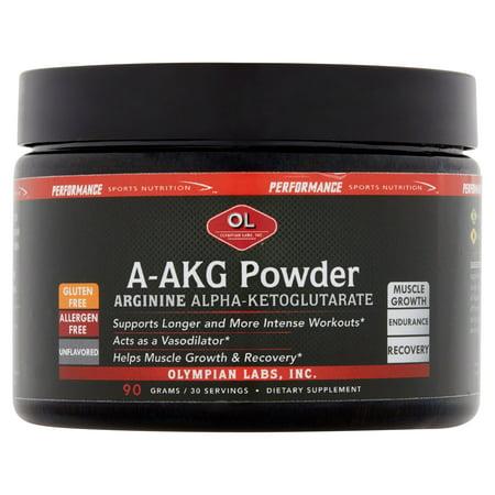 Olympian Labs Inc. Arginine Alpha-cétoglutarate A-AKG poudre, 90 g