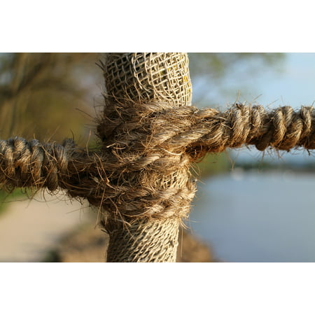 Laminated Poster Dew Connection Rope Twisted Ropes Woven Strand Poster Print 11 x -