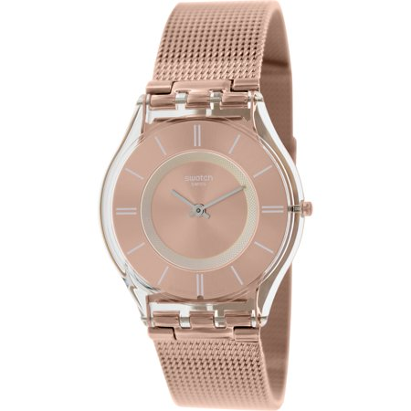 Swatch Women's Rose Gold Metal Knit Watch SFP115M (gold watches for women swatch)