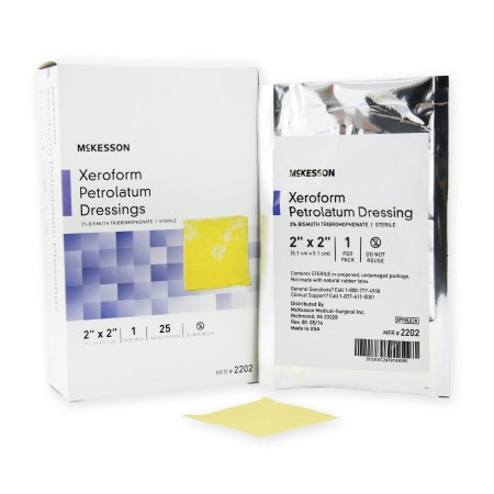 Dressing Sterile Case (McKesson Xeroform Petrolatum Dressing  2 X 2 Inch Gauze Bismuth Tribromophenate Sterile Case of 150 )