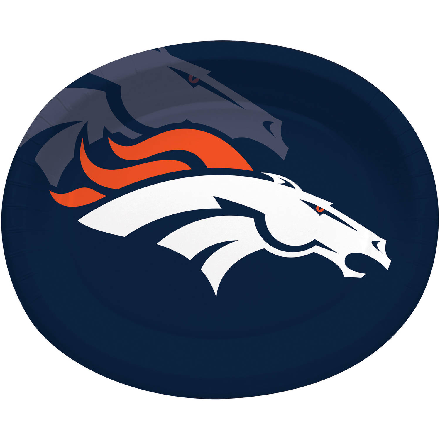 Denver Broncos Oval Platters, 8-Pack